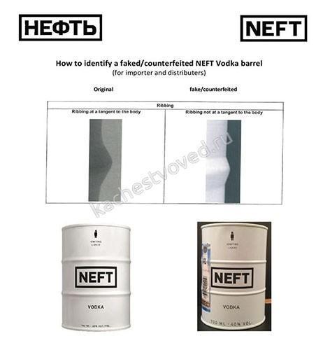 как отличить поддельную водку Нефть
