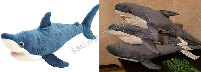 Акула блохэйт из Икеа подделка