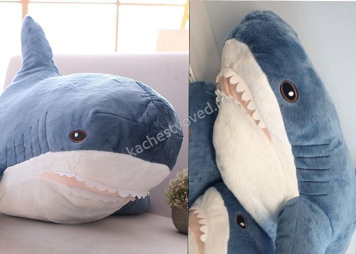 Подделка и оригинальная акула из Икеа
