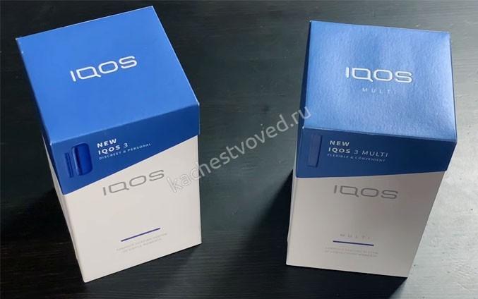 Упаковка iqos 2 new и multi