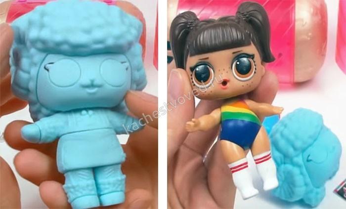 Оригинальная кукла лол в коконе и без