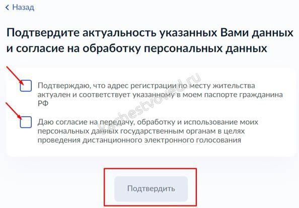 Инструкция как заполнить заявление на онлайн голосование, адрес