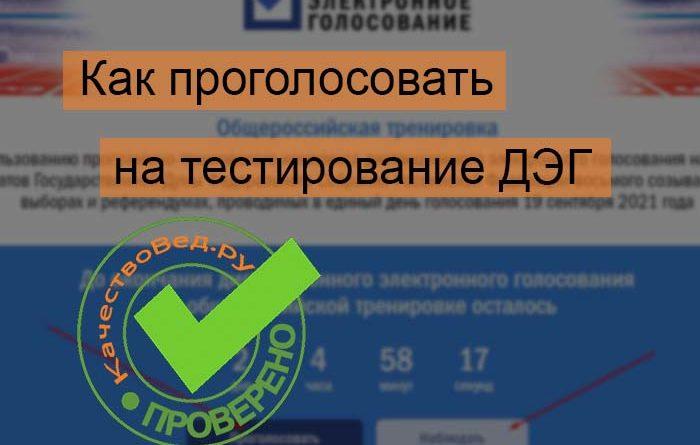 Инструкция как проголосовать ДЭГ