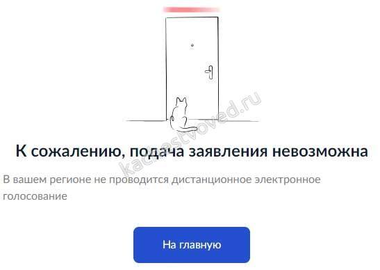 онлайн голосование возможно не во всех регионах РФ